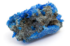 Covellite. On a white background Stock Image