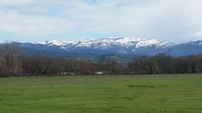 Covelo California. Snow cap ridge Royalty Free Stock Images