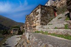 Covelo de Paivo χωριό σε Arouca, Πορτογαλία στοκ εικόνα