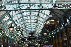 Covent Garden. Apple Market at Covent Garden with Christmas decoration Royalty Free Stock Images
