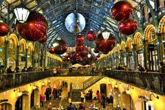 Beautiful Covent Garden Christmas in London. Royalty Free Stock Image