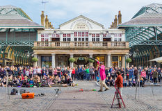 Covent Garden Entertainer Royalty Free Stock Images