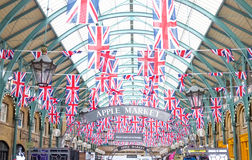 Covent Garden Jubilee Flags, London Stock Image