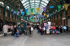 Covent Garden in London. The Apple Market in Covent Garden, London (Editorial Royalty Free Stock Image