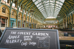 Covent Garden, London. LONDON, ENGLAND October 1, 2013: `apple market` at Covent Garden, London Stock Photo