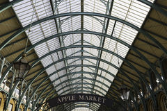 Covent Garden Market, London. Glass and iron ceiling of the main market hall at Covent Garden Market in London, UK Stock Photo
