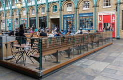 Covent Garden Market, main tourist attraction in London, UK Royalty Free Stock Photo