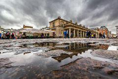 Covent Garden Market on Rainy Day, London. United Kingdom Stock Image