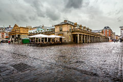 Covent Garden Market on Rainy Day, London Stock Photography