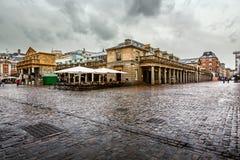 Covent Garden Market on Rainy Day, London Stock Photography