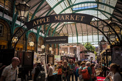 Covent Garden. Photography of Covent garden banner Apple market London, UK Stock Images