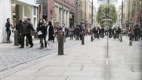 Covent Garden shopping time lapse stock video