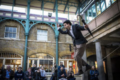 Covent Garden, street artist Royalty Free Stock Photography