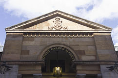 Covent-Garten-Markthauptleitungsfassade Stockfotos