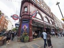 Covent ogródu stacja metru w Londyn Zdjęcia Royalty Free