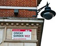 Covent ogródu znak obrazy royalty free