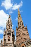 Coventry Cross and Holy Trinity Church. Stock Image