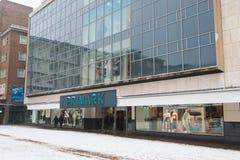 COVENTRY ENGLAND, UK - 3rd mars 2018: PRIMARK-lager, berömt modemärke i England Royaltyfri Bild