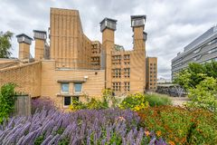 Coventry University Lanchester Library. Coventry,England on 15th Aug 2018: Coventry University Lanchester Library is the largest deep plan naturally ventilated stock photography