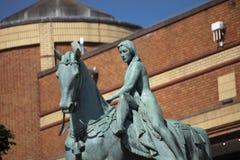 Coventry, Warwickshire, Regno Unito, il 27 giugno 2019, statua di signora Godiva immagine stock libera da diritti
