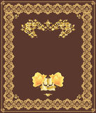 Cover. Color illustration of decorative design of a cover of the book in ancient style royalty free illustration