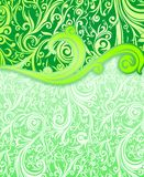 Cover abstract green batik yogyakarta Stock Image