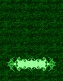 Cover abstract green batik yogyakarta Royalty Free Stock Photos