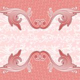 Cover abstract pink batik yogyakarta Stock Images