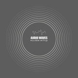 Cover for the album or music track. Sound waves . Audio technology, pulse musical. Vector illustration charts, graphs. Cover for the album or music track. Sound Stock Photography