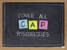 Cover all possibilities Royalty Free Stock Photo