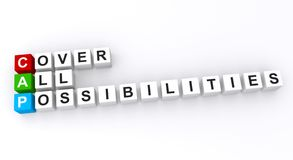 Cover all possibilities Stock Photography