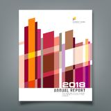 Cover Annual Report Abstract geometric colorful Stock Image
