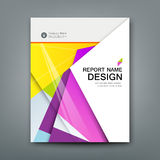 Cover Annual Report Abstract material geometric colorful Stock Photography