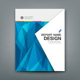Cover Annual Report Abstract triangles geometric blue Stock Images