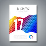 Cover Annual Report Business Colorful Stripes Geometric Design Background, Brochure Book vector design. Royalty Free Stock Image