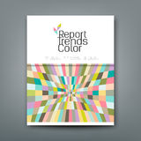 Cover annual report colorful pattern trends design Stock Photography
