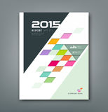 Cover annual report colorful square pattern bevel geometric Royalty Free Stock Image