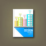 Cover Annual reports building background Royalty Free Stock Images