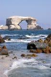 The cover of Antofagasta, Antofagasta  of Chile. Portada de Antofagasta, Natural Monument produced by the effect of wind Stock Photos