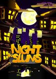 Cover art - a night in the slums. (Vector)  Stock Photo