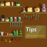 Cover article of tips for housewives Stock Photo