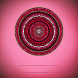 Cover Background. Ornamental Round Knitted Pattern. Cover Background with Ornamental Round Knitted Pattern, Style Circle Simple Red Pink White  Brown Color Royalty Free Stock Photography