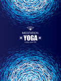 Cover Background for Yoga and Meditation. Royalty Free Stock Image