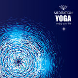 Cover Background for Yoga and Meditation. Stock Images