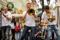 Cover band Brevis Brass Band Royalty Free Stock Photography