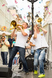 Cover band Brevis Brass Band Stock Images