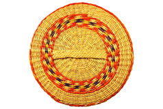 Cover from a basket weaved from algas Royalty Free Stock Image