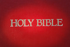 The cover of the Bible is highlight. The cover of the Holy Bible is highlight Royalty Free Stock Photography