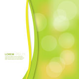 Cover with blurred background and bokeh effect. Landscape.  Place for text. For presentations, brochures, ads, advertising Stock Images