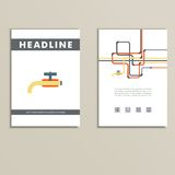 Cover book with background of water pipes Stock Images